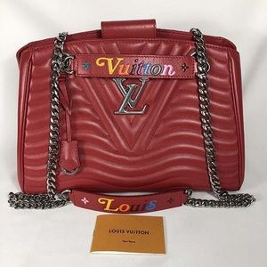 Louis Vuitton new wave red leather bag
